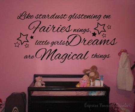 Little girls dreams wall decal