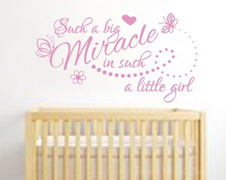 Such a big Miracle wall decal sticker