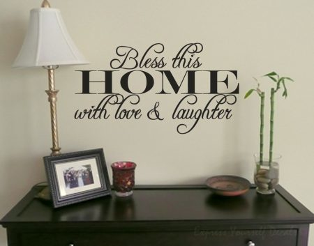 Bless this home wall decal