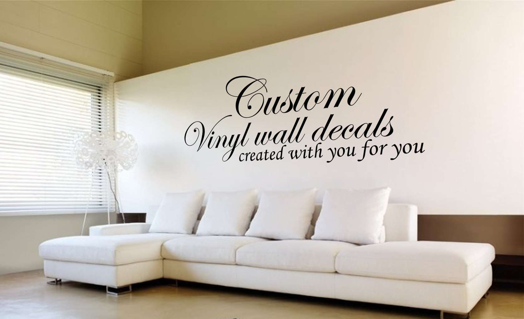 Custom wall decal designed for you design your own quote custom wall art decals