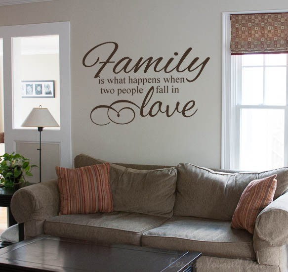 Family is what happens wall decal