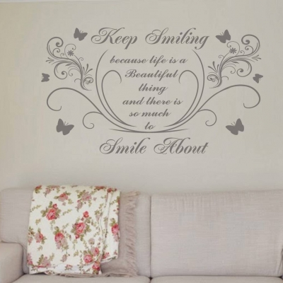 Keep Smiling wall art decal