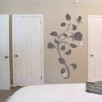 Rose flower wall decal