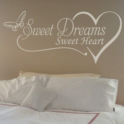 Sweet dreams sweet heart wall decal