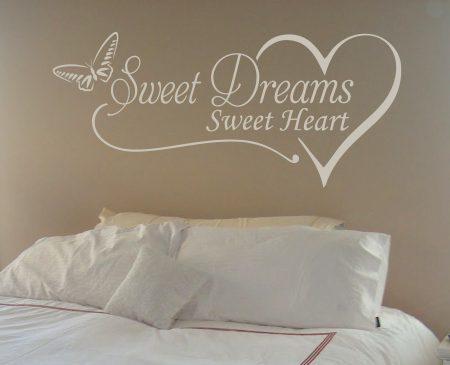 Sweet dreams sweet heart wall decal