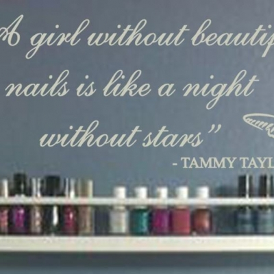 Beautiful nails wall decal