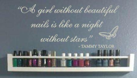 Beautiful nails wall decal