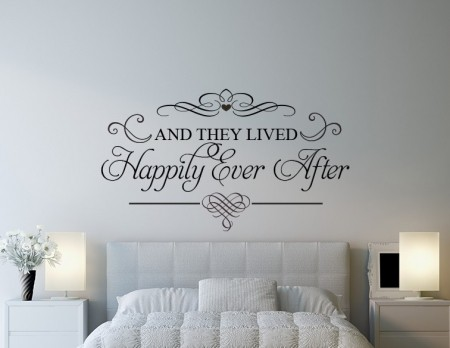 And they lived Happily Ever After - wall art decal