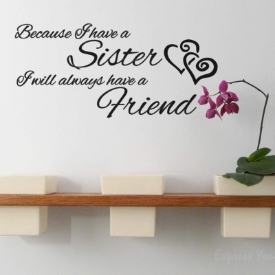 Sister wall art decal