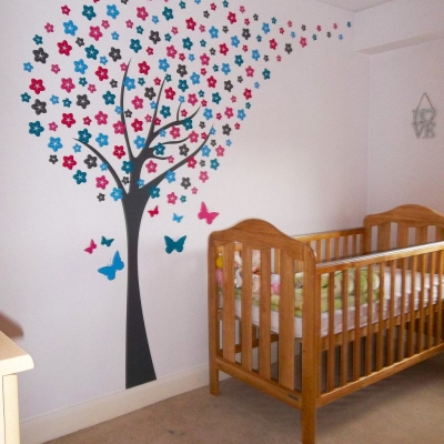 Blossom tree wall art decal