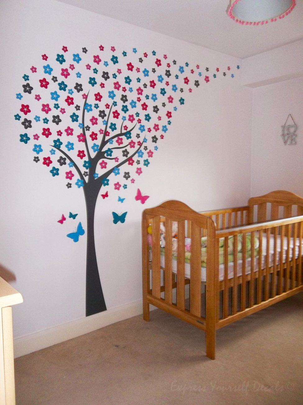 Blossom tree wall art decal