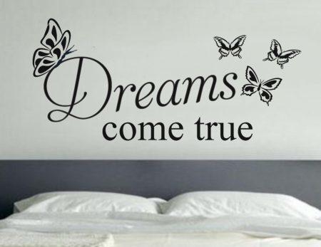 Dreams come true wall decal