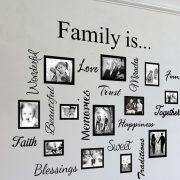 Family Photo frames & Words collage - wall art decal