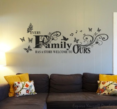 Family Story wall art decal sticker