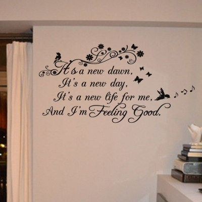 Feeling good wall decal