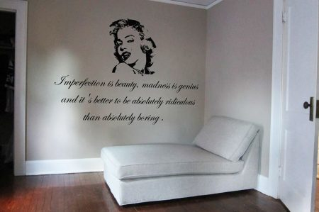 Imperfection is beauty wall decal