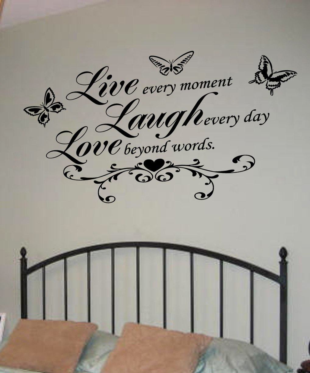 Lovely Live Laugh Love Wall Art Decal