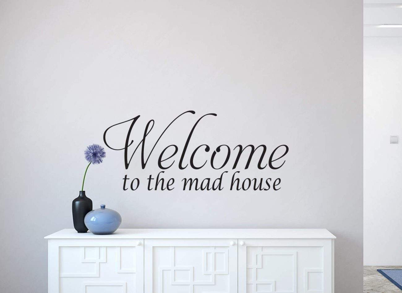 Mad house wall decal | wall art decal sticker