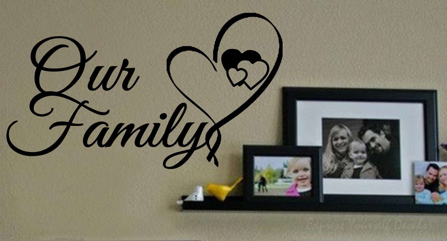 Our family wall decal wall art decal sticker our family wall decal amipublicfo Images