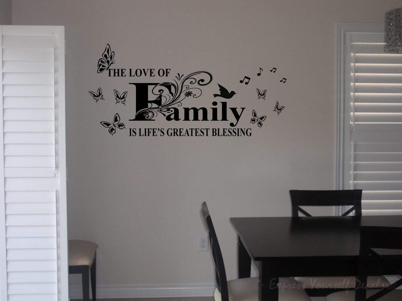 The love of family wall art decal