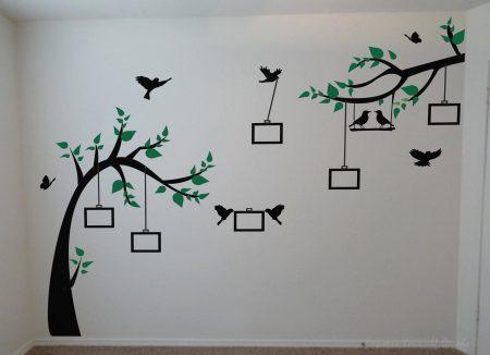 Photo tree wall decal
