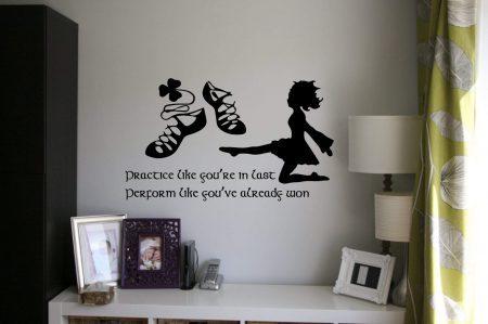 Irish dance practice wall decal, Irish Dance Wall Decals, Irish dance wall stickers