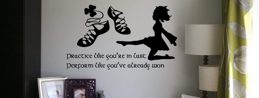 Irish dance practice wall decal, Irish Dance Wall Decals, Irish dance wall stickers