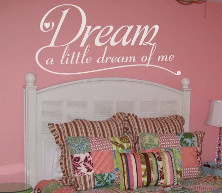 Dream a little dream of me wall decal
