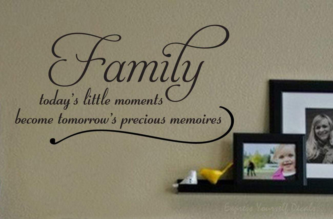 Today's little moments wall decal