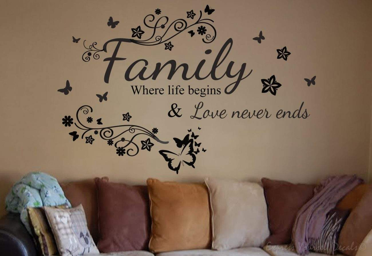 Family where life begins wall decal