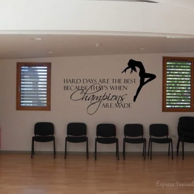 Dance hard days wall decal