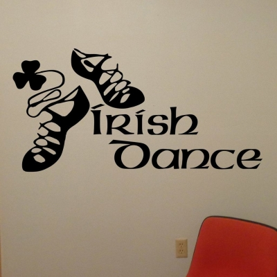 Irish dance wall decal