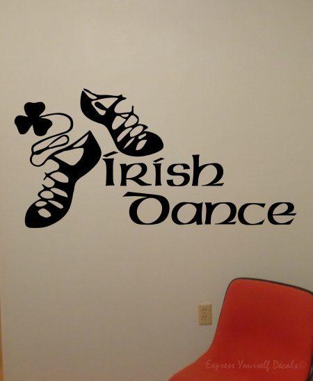 Irish dance wall decal