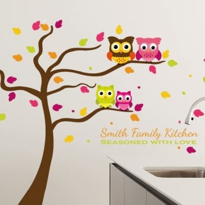 Family kitchen tree wall decal