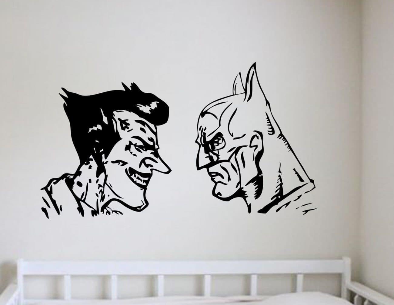 Batman and Joker wall art decal