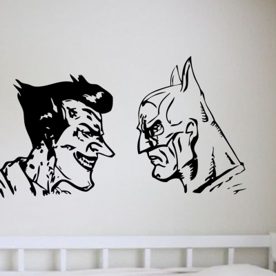 Batman and Joker wall art decal