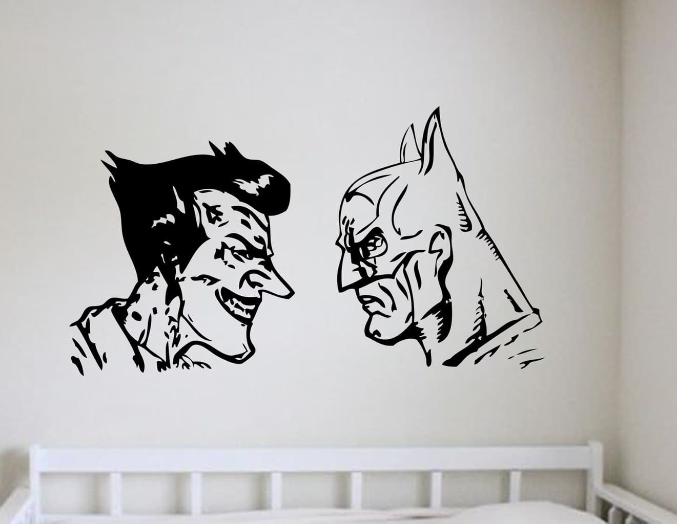 Batman and joker wall art decal wall decal wall art for Batman wall mural decal
