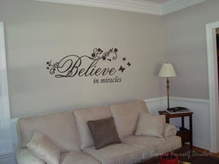 Believe in miracles wall art decal