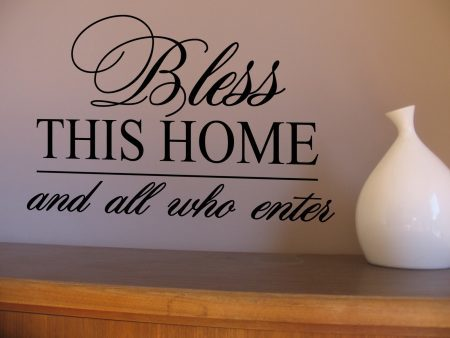Bless this home wall art decal