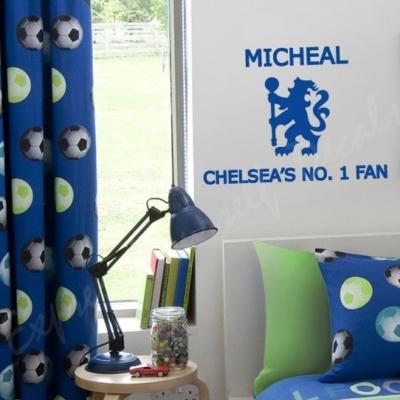 Chelsea's no.1 Fan wall art decal