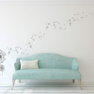 Dandelion wall art decal