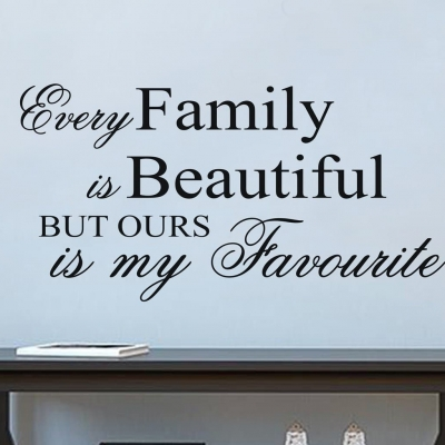 Family is beautiful wall decal