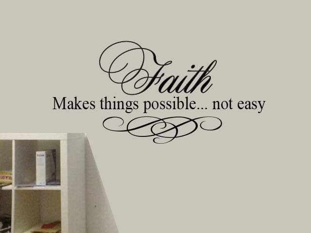 Faith wall art decal