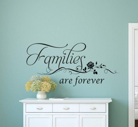 Families are forever wall art decal