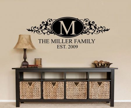 Personalised family name wall decal