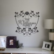 wall decals Personalised family name wall art decal