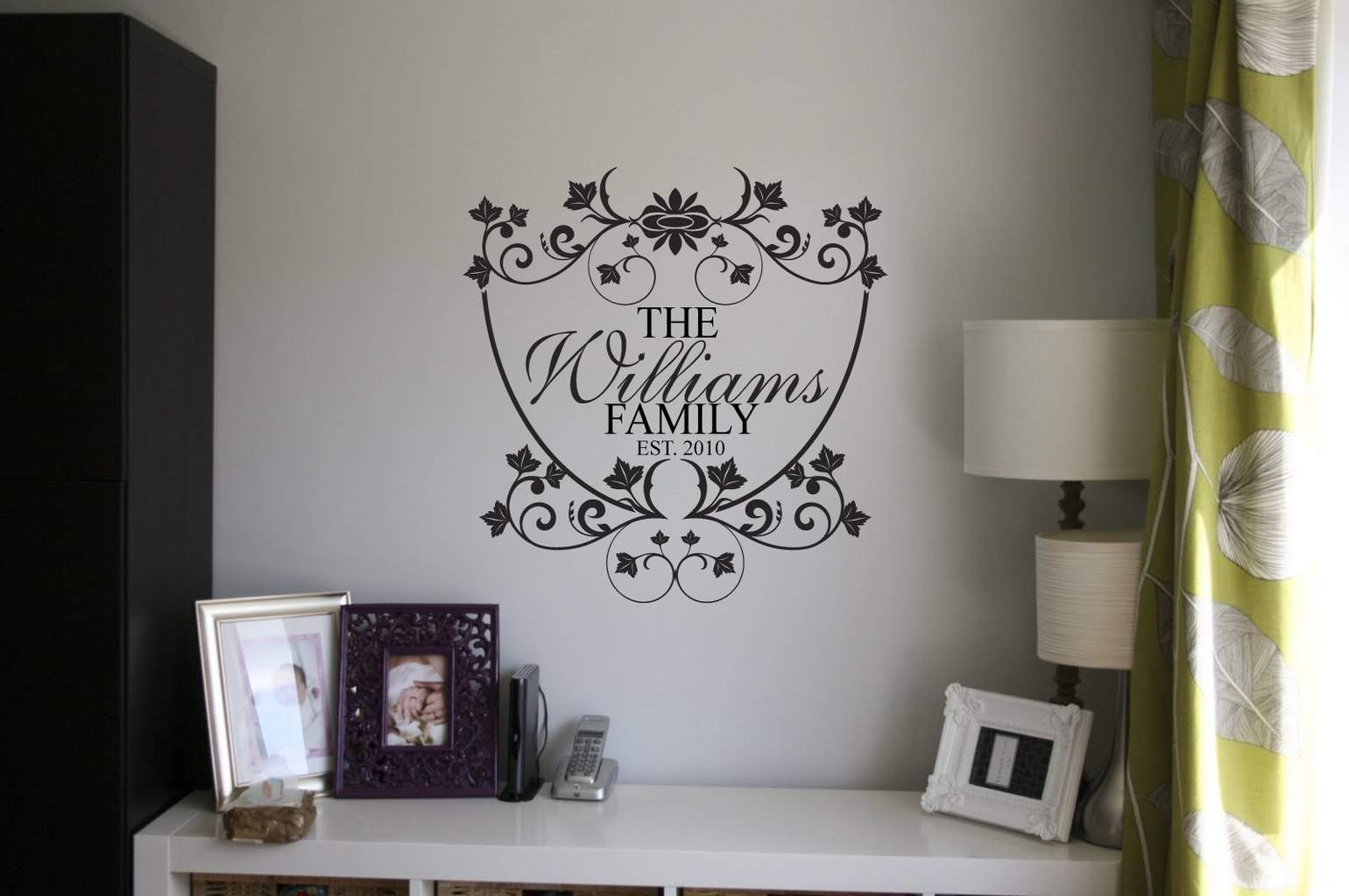Family Name Wall Art personalised family name wall art decal