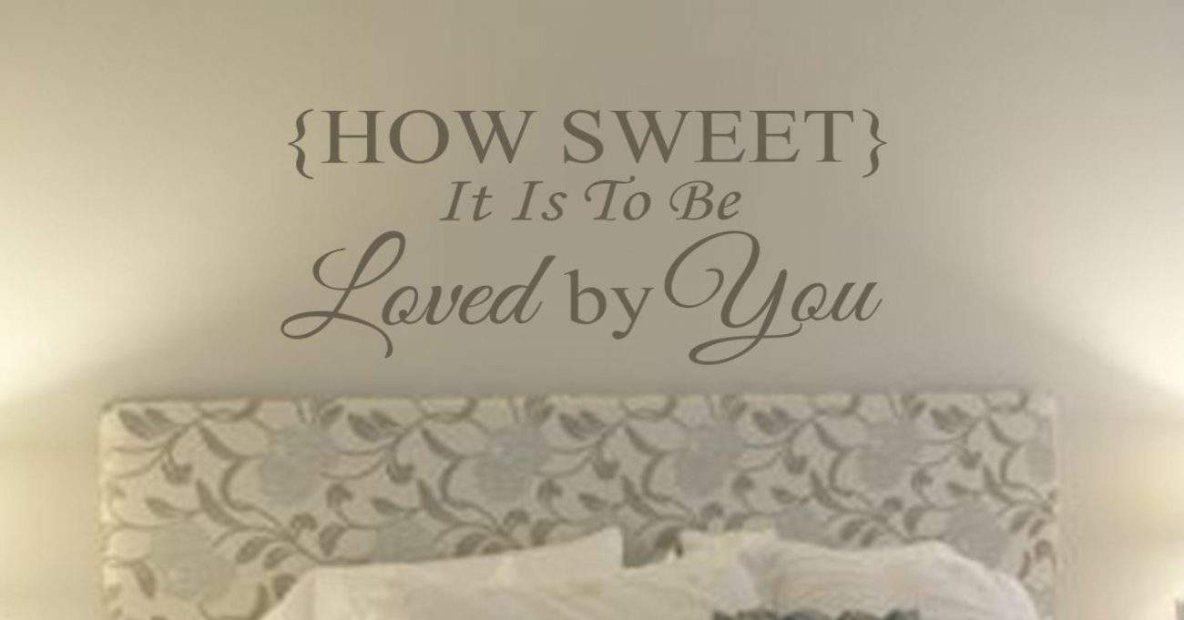How sweet wall art decal