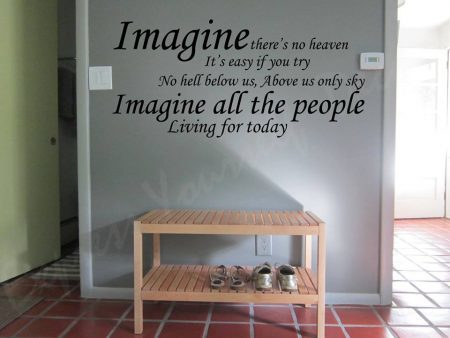 Imagine wall art decal