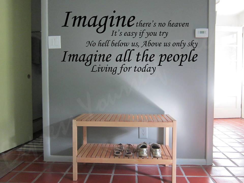 Imagine wall art decal